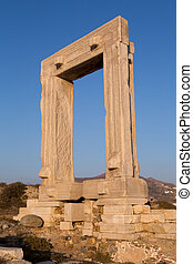 Naxos - 03 - The Portara Gate of the Apollo Temple in Naxos...