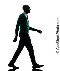 african black man walking silhouette