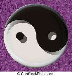 Yin yang symbol - Black and white yin yang symbol made by...