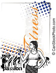 fitness poster backgroud