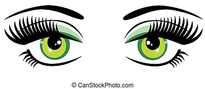 Green Eyes - vector green eyes