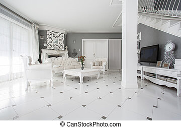 Family room - Photo of luxury vintage style family room