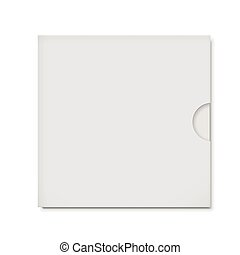 blank CD envelope isolated on white