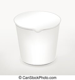 blank food cup package isolated on white background