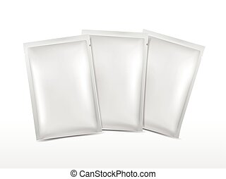 blank plastic package set for cosmetics isolated on white