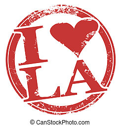 I Love LA Heart Symbol Los Angeles City in California or...