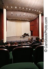 interior of concert hall