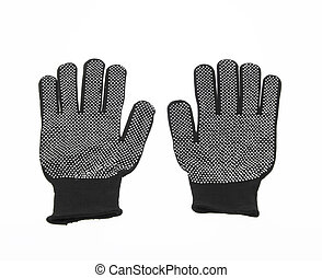 Black Gloves - New Black Gloves isolated on white background...
