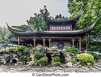 pagoda temple Kowloon Walled City Park Hong Kong - pagoda...