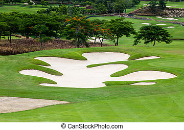 Golf Courses and tree at Hua Hin, thailand