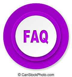 faq icon, violet button