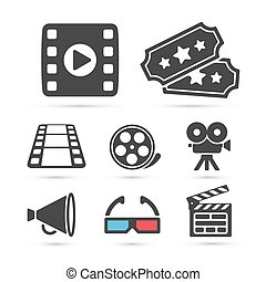 Cinema trendy icon for design. Vector elements