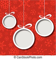 Christmas balls abstract background - Abstract Xmas greeting...