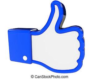 symbol of positive feedback - I like symbol 3d rendering...