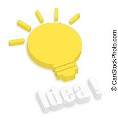 3d Bulb - Idea Concept