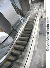 escalator shopping center