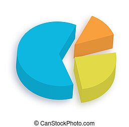 Business Pie Chart - Abstract Colorful 3d Business Pie Chart...