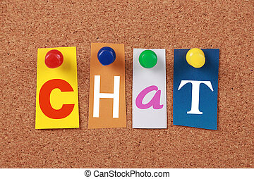 Chat Single Word - The word Yes in cut out magazine letters...