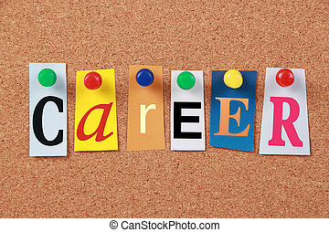 Career Single Word - The word Career in cut out magazine...