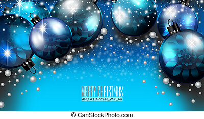 Merry Christmas and Happy New Year - An abstract...