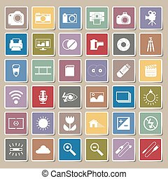 Photography camera icons Sticker