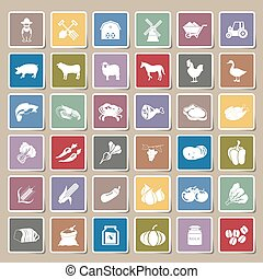 farm icons Sticker Set