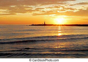 Mediterranean sunset, Spain.