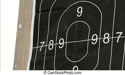 Target for shooting - Accurate shot at a target shooting...