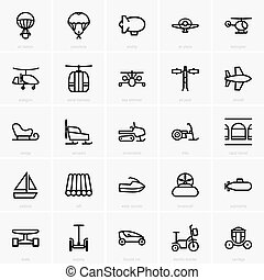 Transportation icons - Set of Transportation icons