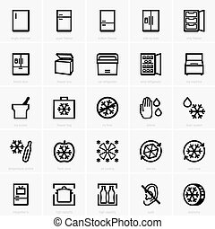 Freezer icons - Set of Freezer icons