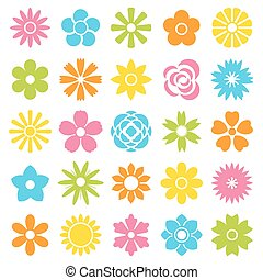 Flowers vector set, EPS10