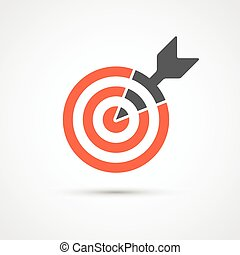 Target icon for business or sport. Vector