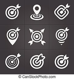 Target icons pack for business mobile interface - Target...