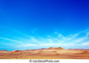 Paracas, Peru Landscape - Dry desert landscape near Paracas,...