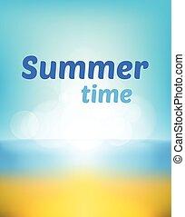 summer beach  bokeh background