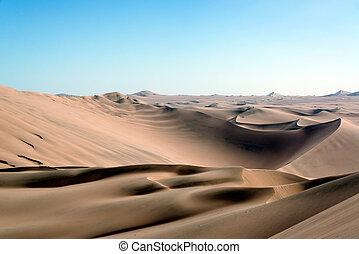 Sand Dune Desert Landscape - Sandy desert landscape near...