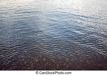 water surface with small waves for backgrounds