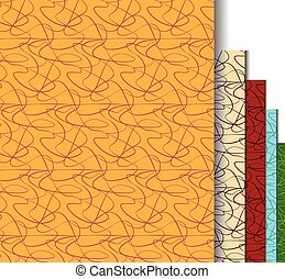seamless curved lines pattern vector
