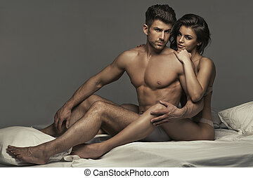 Muscular handsome guy with his wonderful girlfriend -...