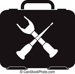 toolbox icon, repair symbol vector
