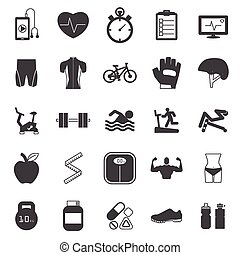 Fitness Icons set EPS10