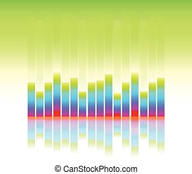 equaliser sound wave vector illustration