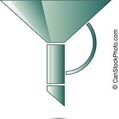 funnel icon vector modern symbol