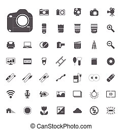 camera Photography icons EPS10