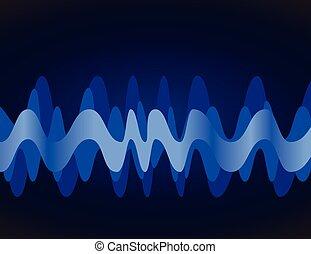 equaliser sound wave vector illustration