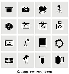 Vector photo icon set