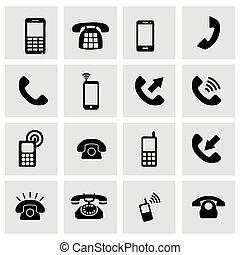 Vector telephone icon set