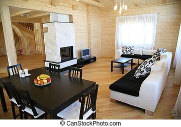 summer-resort interior