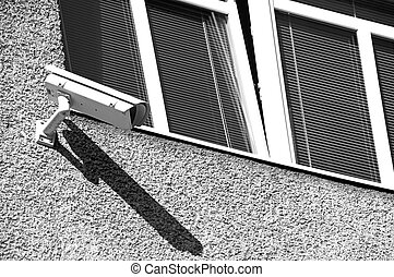 Camera on the building