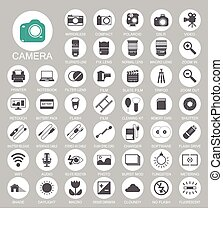 Photography camera icons EPS10